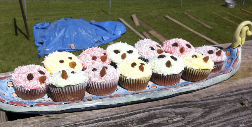 Trick: Put cupcakes near garden bed project. Associate cupcakes with garden work.