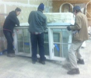 PJ, Collin, and I scoring a Big Window!