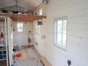 Wood Floor and Pine Interior